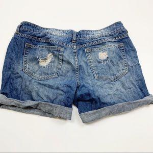 Refuge Denim Destroyed Distressed Jean Shorts 3482